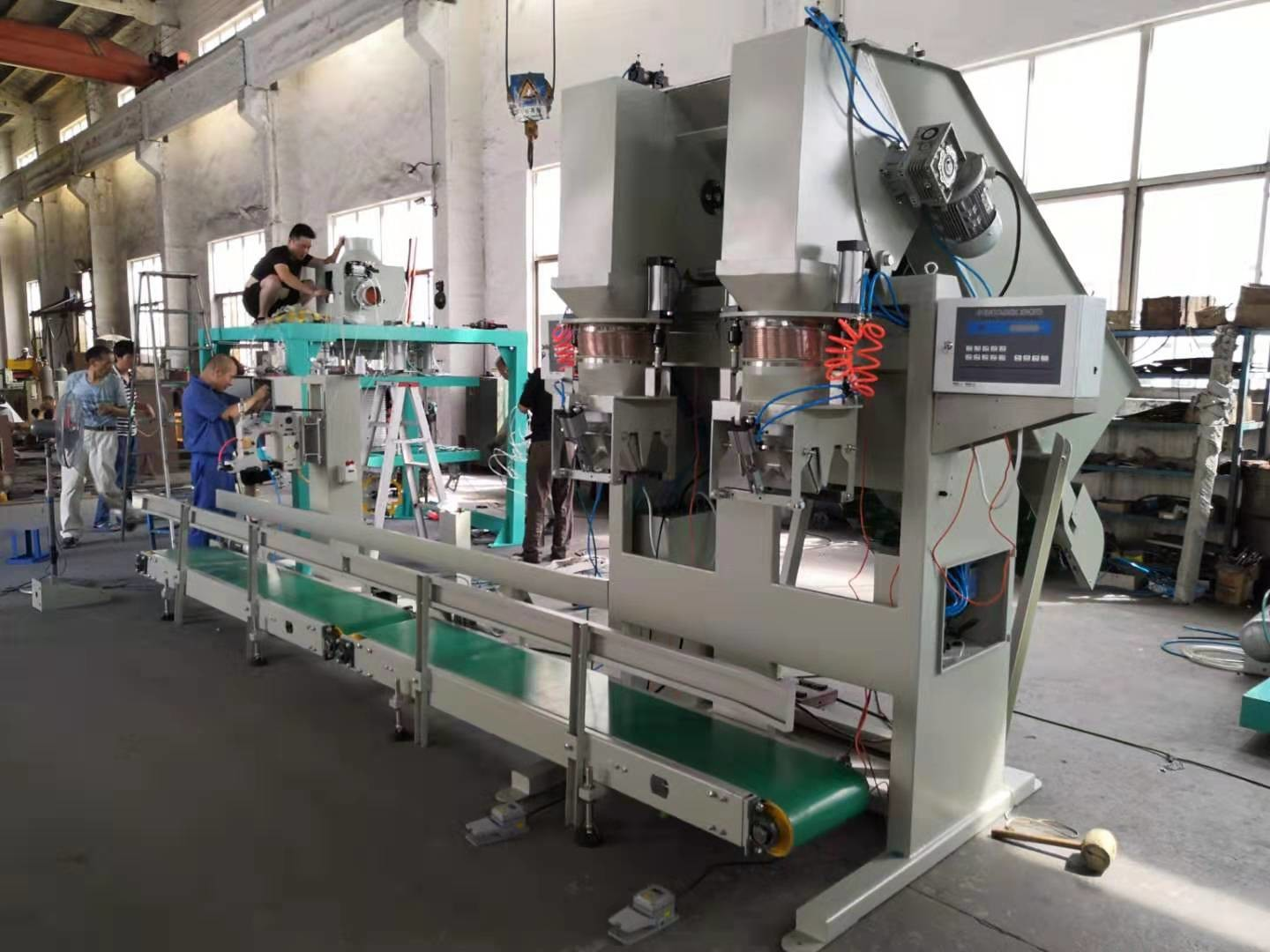 Dual Head Potato Bagger Machine , Auto Potato Packing Machine For 5kg - 30kg